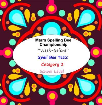 marrs spellbee catgory 1 school