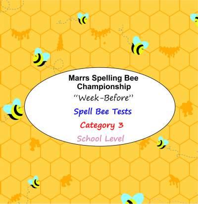 marrs spellbee catgory 3 school