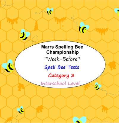 marrs spellbee catgory 3 interschool