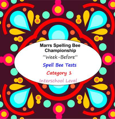 marrs spellbee catgory 1 interschool school