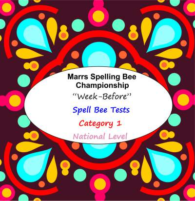 marrs spellbee catgory 1 national school