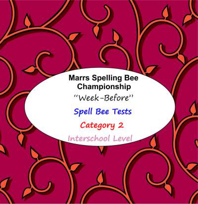 marrs spellbee catgory 2 interschool