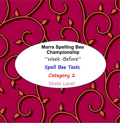 marrs spellbee catgory 2 state school