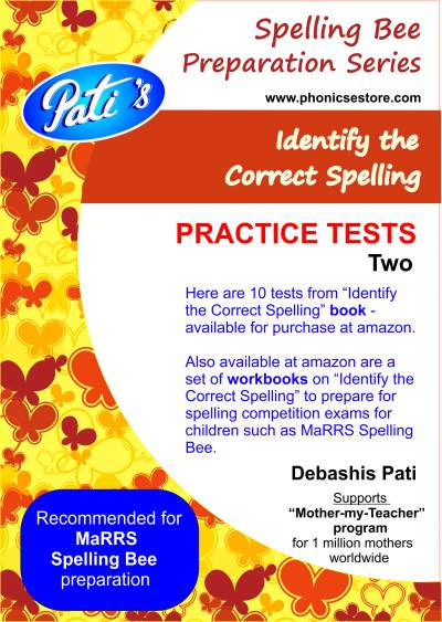 marrs spellbee identify the correct spelling practice questions