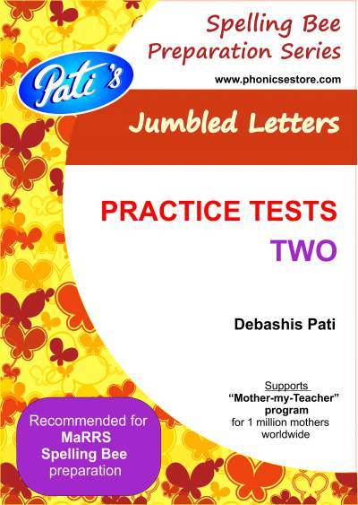 marrs spellbee jumbled letters practice questions