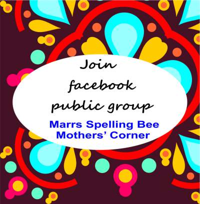 marrs spelling bee mothers corner facebook group