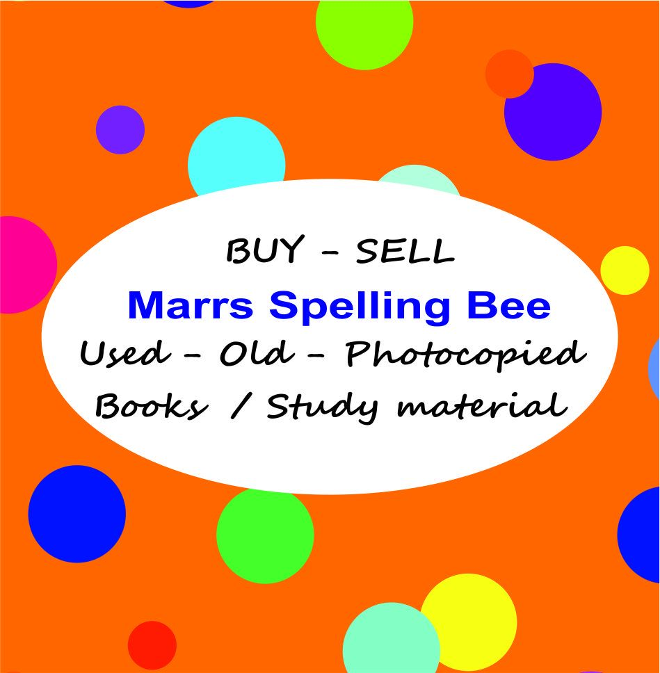marrs spelling bee buy sell books
