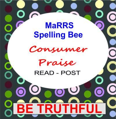 marrs spelling bee consumer praise